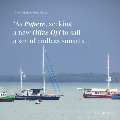 popeye-sail-boat-yacht-seas-sunsets-personal-add-blog-flash-fiction-humour-ruralromanticramblings-com-melarowe-com