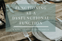 Functioning at a Dysfuncitonal Function - flash fiction by Mel A ROWE