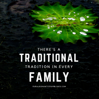 Traditions - traditional - family traditions - silhouette water lilly - water drops - Flash Fiction - RuralRomanticRamblings.com - MelAROWE.com