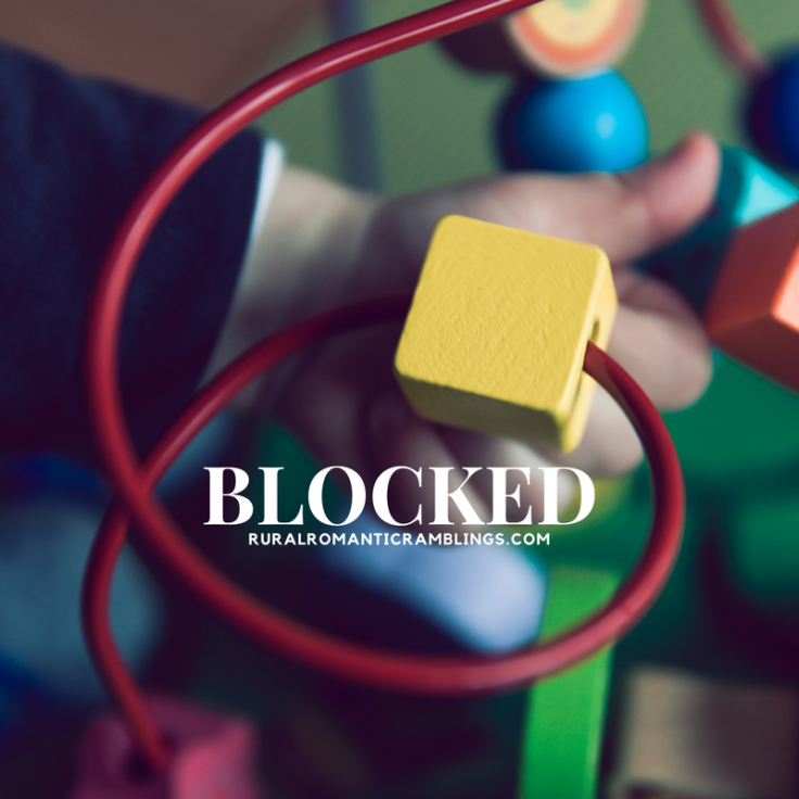Blocked - writers block - weekdays - RuralRomanticRamblings.com (1)